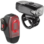 Lezyne KTV Drive Headlight and Taillight Set: Black