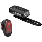 Lezyne Hecto 500XL and KTV Headlight and Taillight Set: Black