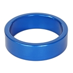 """Origin8 Alloy Headset Spacers, 1-1/8""""x10mm, Blue, Bag of 10"""