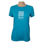 Sun Bicycles 60/40 T-Shirt, Heather Aqua