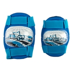 Kidzamo Elbow/Knee Pad Set, Blue Stars