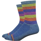 DeFeet Wooleator Comp Business Time Socks - 6 inch, Sapphire Heather