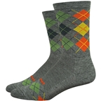 DeFeet Wooleator Comp Argyle Socks - 6 inch, Loden Green