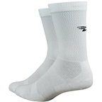 DeFeet Levitator Lite D-Logo Socks - 6 inch, White