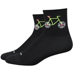 DeFeet Aireator Pedal Power Socks - 3 inch, Black, Women's