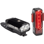 Lezyne Micro Drive 600XL and Strip Headlight and Taillight Set: Gloss Black