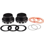 Enduro Italian Bottom Bracket for DUB Spindles, Stainless Steel Angular Contact Bearings Black