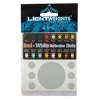 LightWeights Reflective Dots 14pc, Red/White