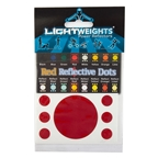 LightWeights Reflective Dots 7pc, Red