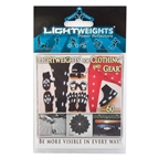 LightWeights LW4C Power Reflectors For Clothing 60 pc, Silver