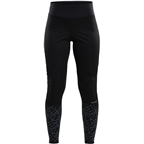 Craft Craft Warm Train Wind Tights - Black/Asphalt, Women's