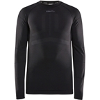 Craft Active Intensity Long Sleeve Crew Neck Top - Black/Asphalt, Men's