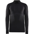 Craft Active Intensity Zip Neck Long Sleeve Top - Black/Asphalt, Men's
