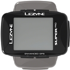Lezyne Super Pro GPS Loaded Bike Computer - GPS, Wireless, Heart Rate Monitor, Speed, Cadence, Black