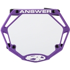 Answer 3D Mini Number Plate - Purple