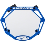 Answer 3D Mini Number Plate - Blue