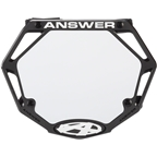Answer 3D Mini Number Plate - Black