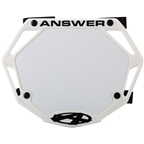 Answer 3D Mini Number Plate - White