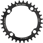 Wolf Tooth 104 BCD Chainring - 34t, 104 BCD, 4-Bolt, Requires Shimano 12-Speed Hyperglide+ Chain, Black
