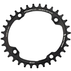 Wolf Tooth Elliptical 104 BCD Chainring - 34t, 104 BCD, 4-Bolt, Requires Shimano 12-Speed Hyperglide+ Chain, Black