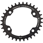 Wolf Tooth Elliptical 96 BCD Chainring - 32t, 96 Asymmetric BCD, 4-Bolt, For Shimano Cranks, Use 12-Spd Hyperglide+ Chain, Black