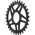 Wolf Tooth Elliptical Direct Mount Chainring - 30t, RaceFace/Easton CINCH Direct Mount, Boost, 3mm Offset, Use Hyperglide+ Chain, Black