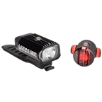 Lezyne Hecto 500XL and Fempto Headlight and Taillight Set: Black