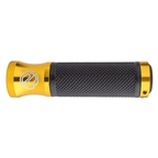 PDW Speed Metal Lock On Grips, Black/Gold, 128mm