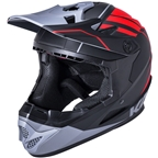 Kali Protectives Zoka Youth Full-Face Helmet - Black/Red/Gray, Youth, Large