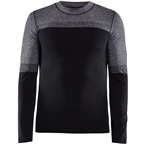 Craft Warm Intensity Crew Neck Long Sleeve Top - Black, Men's