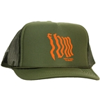 FBM Wavy Mesh Hat - Green One Size Fits Most
