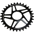 Wolf Tooth Direct Mount Chainring - 36t, RaceFace/Easton CINCH Direct Mount, Drop-Stop, For Boost Cranks, 3mm Offset, Black