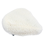 Sunlite Cruiser Fur Seat Cover, White, 11.5x12""