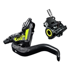 Magura MT8 SL FM Brakes, Front or Rear with Lever, No Rotor, Gray/Neon Yellow