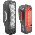 Lezyne Strip Drive Headlight and Taillight Set: Black