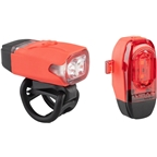 Lezyne KTV Drive Headlight and Taillight Set: Red