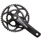 FSA (Full Speed Ahead) Tempo Adventure Crankset - 170mm, 10/11 -Speed, 46/30t, 110/80 BCD, FSA JIS Spindle Interface, Black