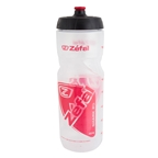 Zefal Shark 80 Water Bottle, 27oz, Transparent/Red