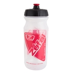 Zefal Shark 65 Water Bottle, 22oz, Transparent/Red