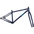 Surly Wednesday Fat Bike Frameset - 26 Steel Blue Monday Large