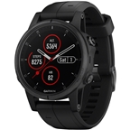 Garmin Fenix 5S Plus Sapphire GPS Watch: Black/Black