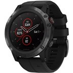 Garmin Fenix 5X Plus Sapphire GPS Watch: Black/Black