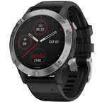 Garmin Fenix 6 GPS Watch - Silver/Black