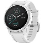 Garmin Fenix 6S GPS Watch - Silver/White
