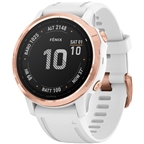 Garmin Fenix 6S Pro GPS Watch - Rose Gold/White