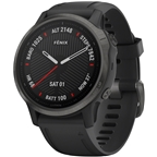 Garmin Fenix 6S Sapphire GPS Watch - Carbon Gray/Black