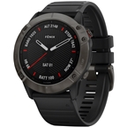 Garmin Fenix 6X Sapphire GPS Watch - Carbon Gray/Black