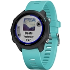 Garmin Forerunner 245 Music Wi-Fi GPS Running Watch: Black/Aqua