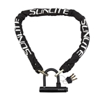 Sunlite Defender Mini-U/Chain lock, 10x4, Black