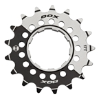 "Box Pinion Alloy Single Speed Cog, 17T x 3/32"", Black/Silver"
